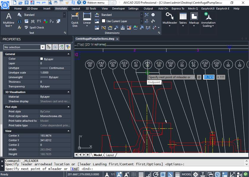 Auto CAD Like Interface