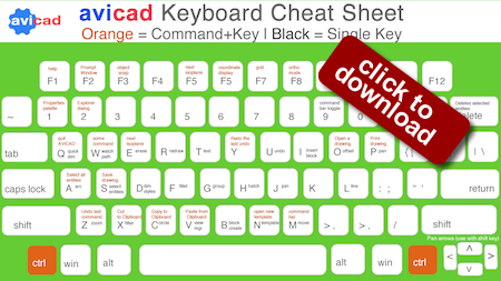 CAD Shortcuts - Keyboard Layout